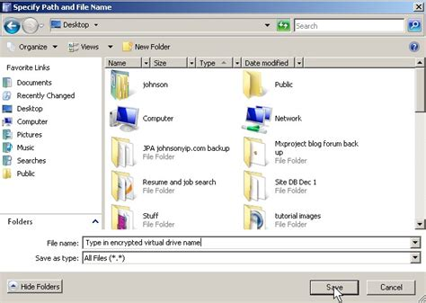Making a Password protected virtual drive with TrueCrypt