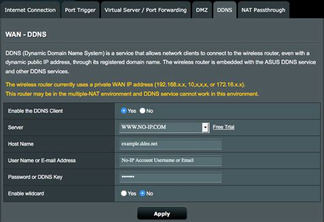 Setup and Configure Dynamic DNS in an ASUS Router