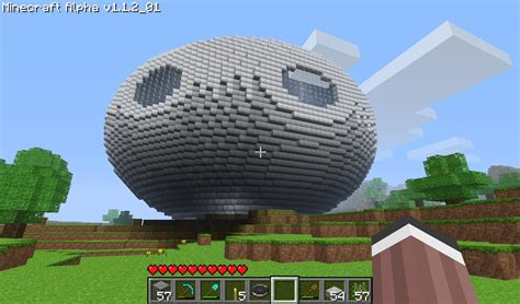 I was curious what a compressed voxel sphere in Minecraft