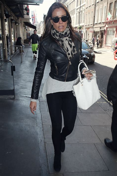Melanie Sykes out in Soho - Leather Celebrities