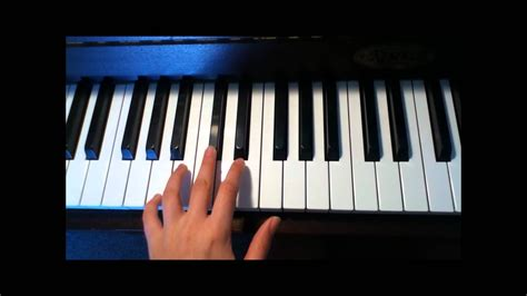 2 minute tutorial - The Four Chord Song - Piano - YouTube