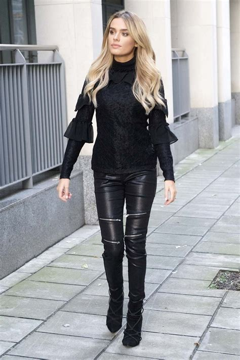 Chloe Lloyd out and about in London - Leather Celebrities