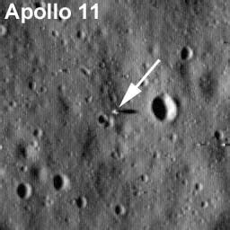 New Photos Reveal Apollo 11 at First Moon Landing Site   Space