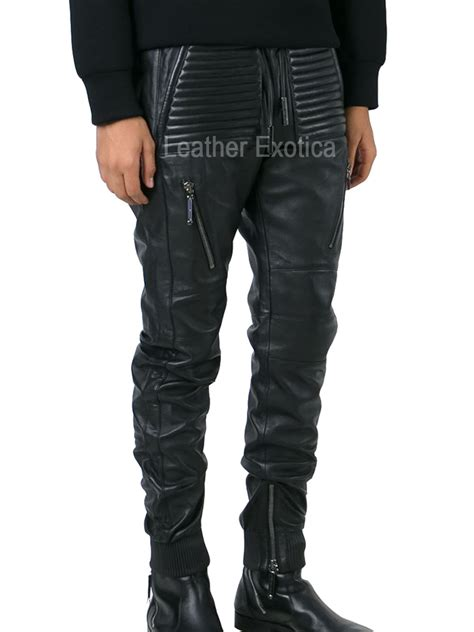 New Style Men Leather Track Pant – Leatherexotica