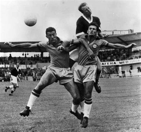 PICTURES: Brazil legend Pele takes on Wales during 1958