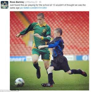 Are they the same age? Everton's Ross Barkley reveals snap