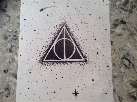 Easy to draw Deathly Hallows symbol
