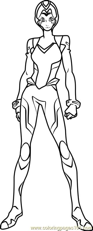 Allura with Helmet Coloring Page - Free Voltron: Legendary
