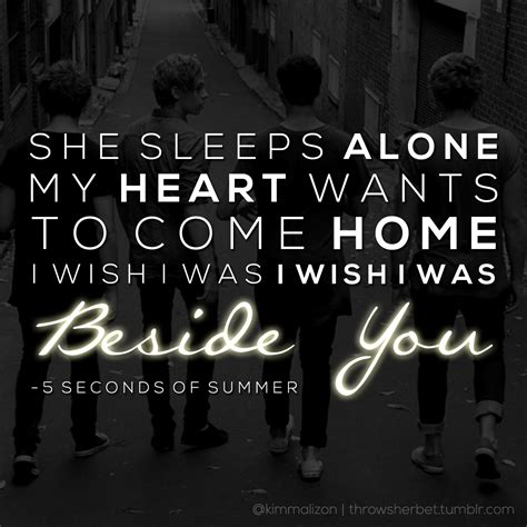5sos Beside You Quotes