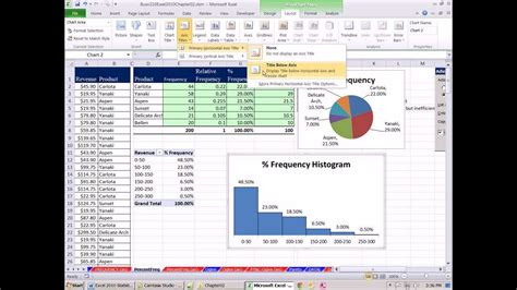 Excel 2010 Statistics #16: Relative & Percent Frequency