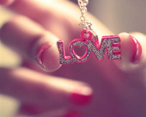 Love Pendant Pink Letters With Heart Association For Love