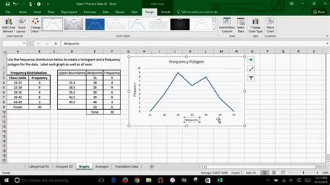 Microsoft Excel - How to Create A Frequency Polygon - YouTube