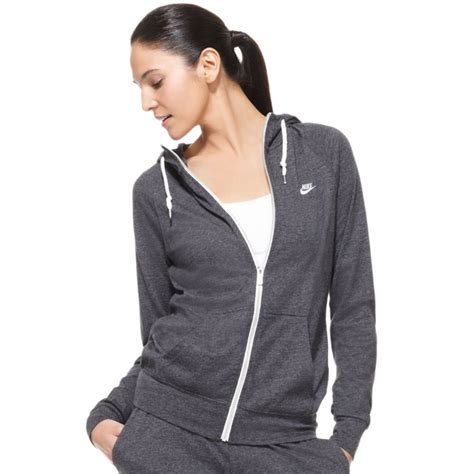 Lyst - Nike Time Out Long Sleeve Zip Up Hoodie in Gray