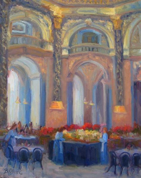 Brunch At The Museum Painting by Bunny Oliver