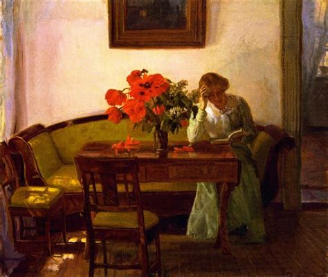 Interior with Red Poppies, 1905 - Anna Ancher - WikiArt