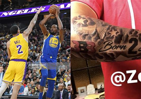 Lonzo Ball covered his BBB tattoo with a white patch