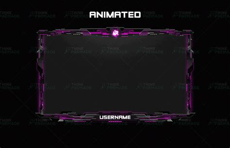 Animated Twitch Webcam Overlay - Helix - Think Premade