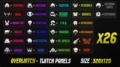 OVERWATCH - TWITCH PANELS - LoLoverlay