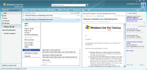 Windows Live Mail - Free software downloads   Email Clients