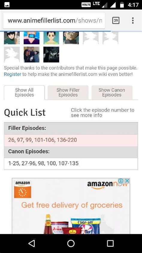 What are the filler episodes in Naruto? - Quora