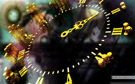 3D Clock Abstract Style Wallpaper | Free Wallpapers