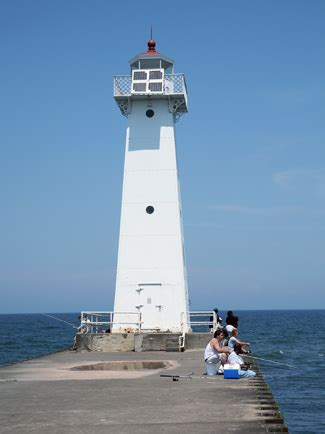 Sodus Outer Lighthouse, New York at Lighthousefriends