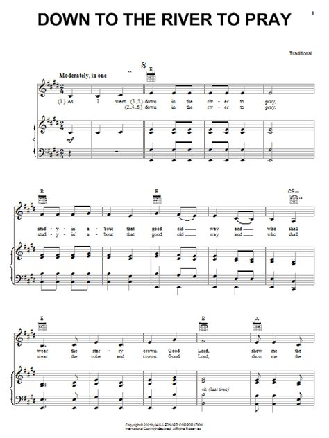 Down To The River To Pray | Sheet Music Direct