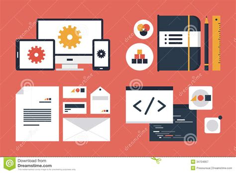 Branding And Application Design Elements Stock Vector