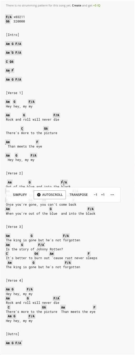 hey hey my my neil young guitar chords   Songs, Guitar chords